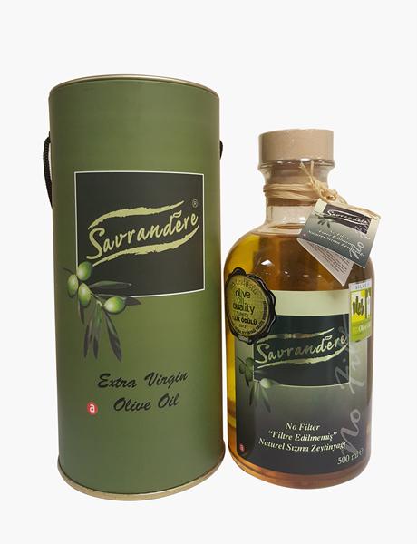 Naturel Sızma Zeytinyağı 500 ml Farmacia Şişe Silindir Kutulu resmi
